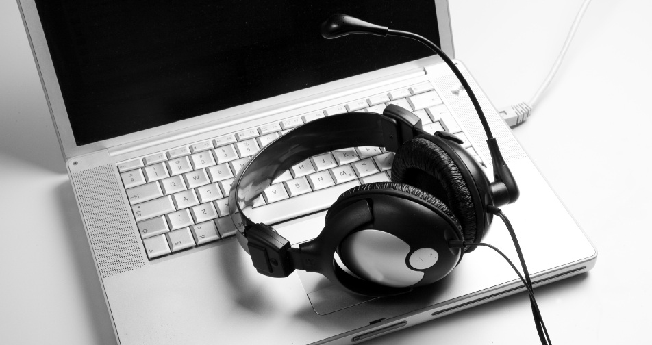 bw headphone at desk